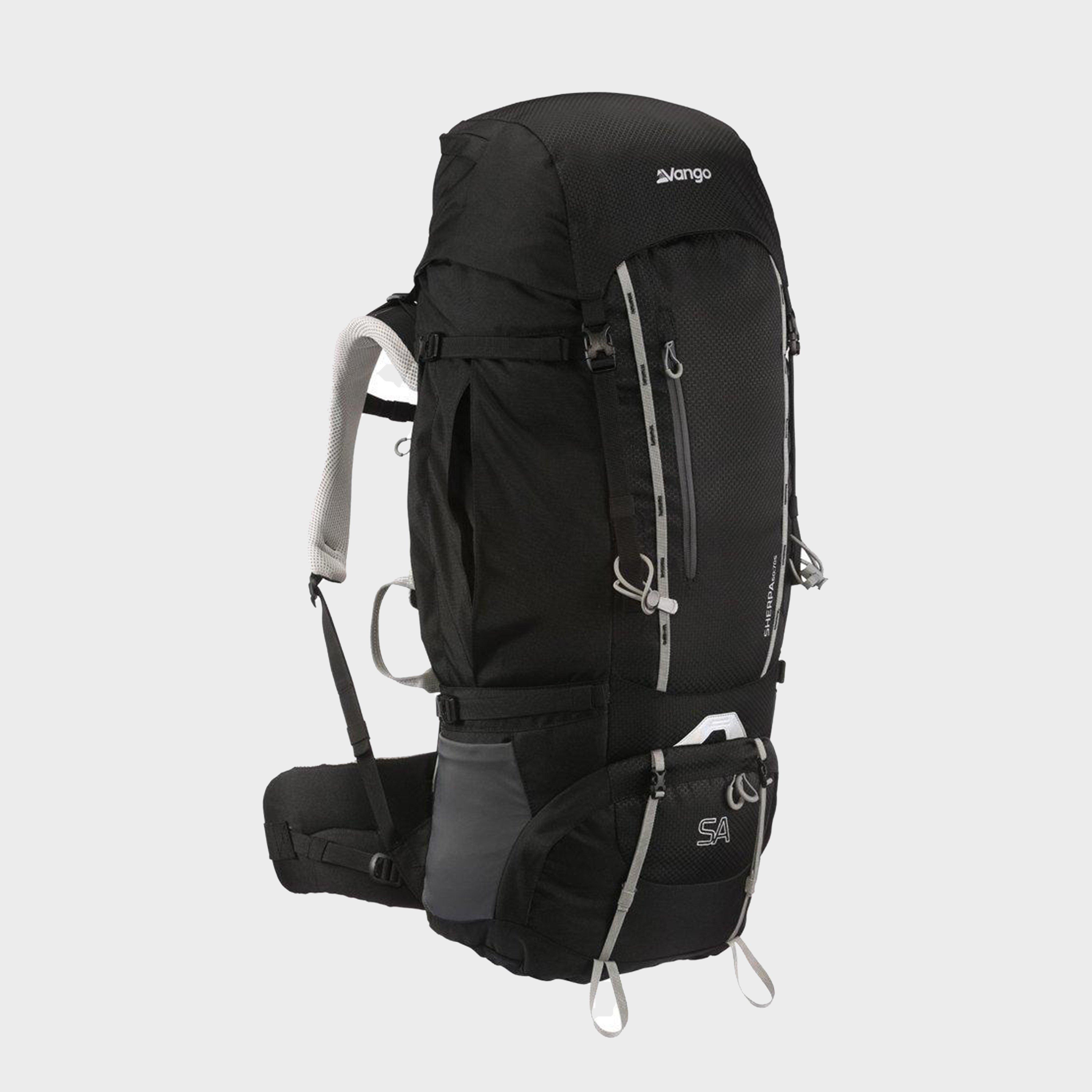 Vango Sherpa 60:70 Rucksack - Black/70S, Black