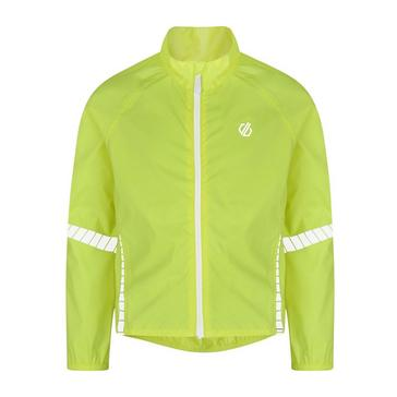 yellow Dare 2B Kids' Cordial Waterproof Cycling Jacket