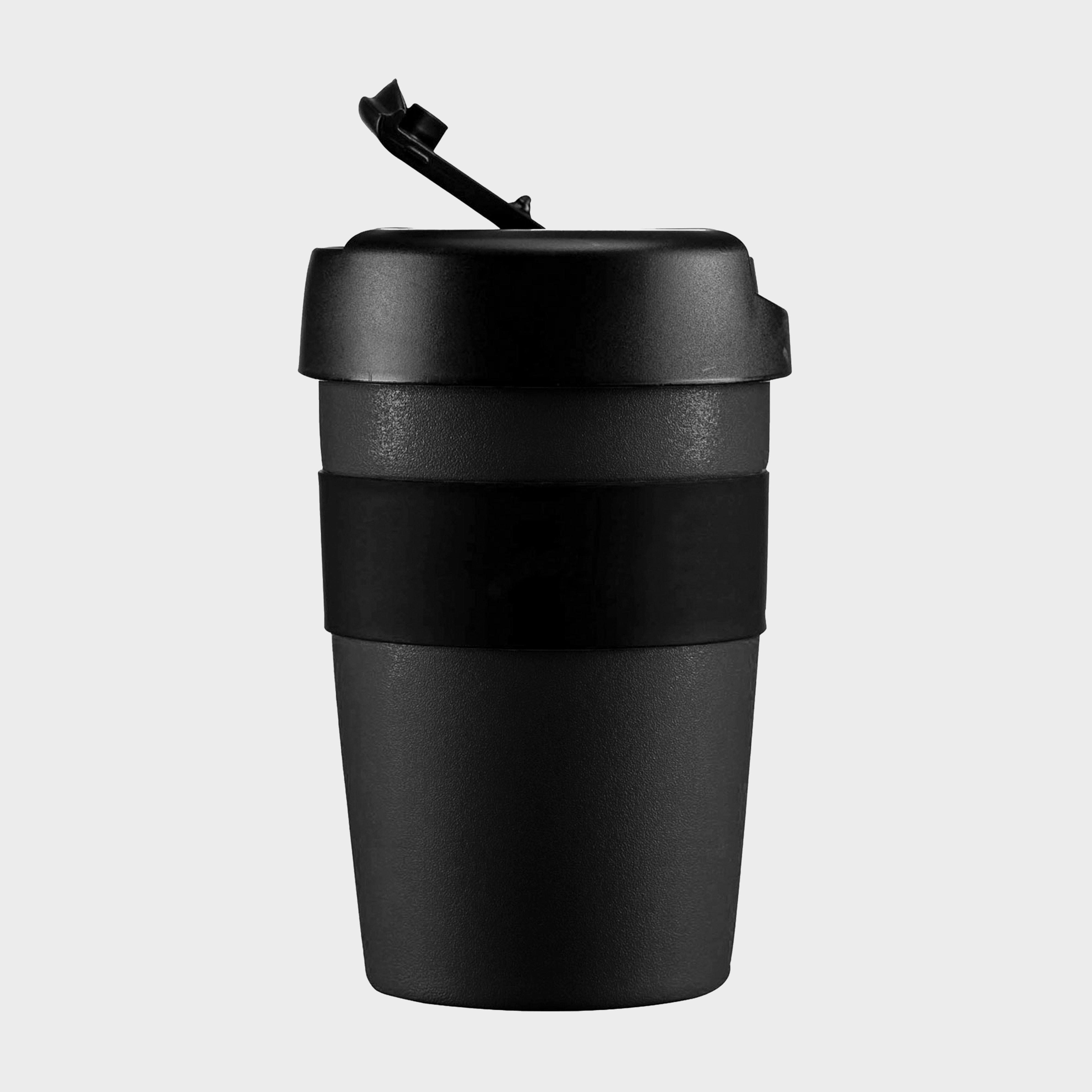 Lifeventure Lifeventure Reusable Coffee Cup 350ml - Black, Black