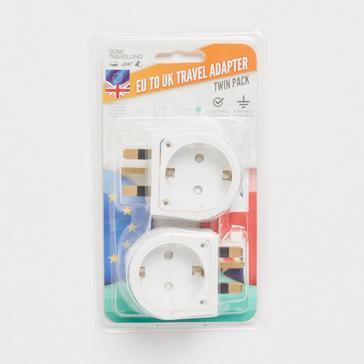 WHITE Boyz Toys Twin Pack Plug Adaptor EU to UK