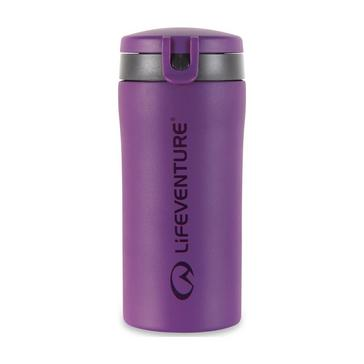 Purple LIFEVENTURE Flip-Top Thermal Mug