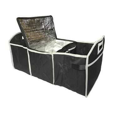 Black STREETWIZE Boot Organiser with Detachable Cooler Bag