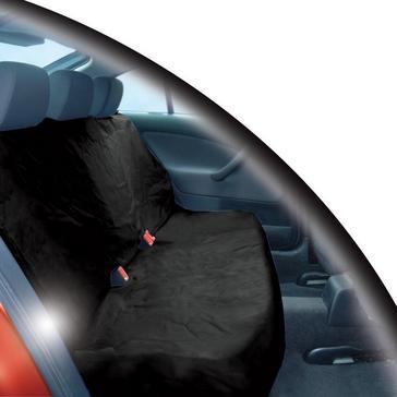 Black STREETWIZE Heavy Duty Rear Seat Protector
