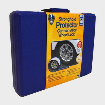 Blue Stronghold Protector Caravan Alloy Wheel Lock