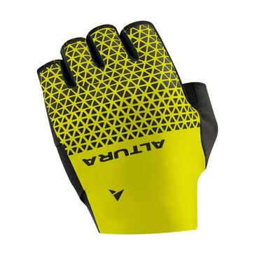 Yellow Altura ProGel Cycling Mitts