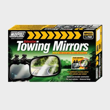 BLACK Maypole Towing Mirrors (pair)