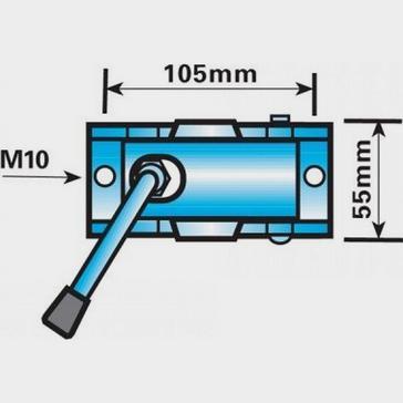 Silver Maypole 34mm Split Clamp