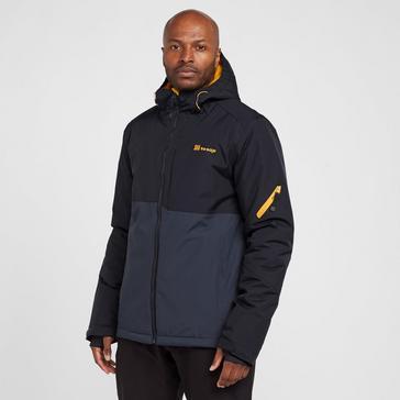 Navy The Edge Men's Mount Block Snow Jacket