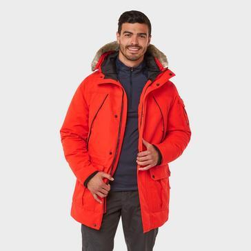 RED Craghoppers Men's Bishorn Insulated Waterproof Jacket