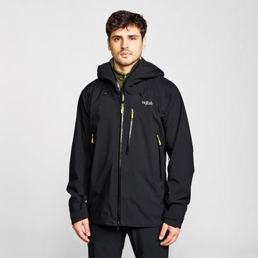 BLACK Rab Men's Firewall Waterproof Jacket