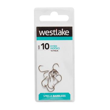 Silver Westlake Eyed Barbless 10
