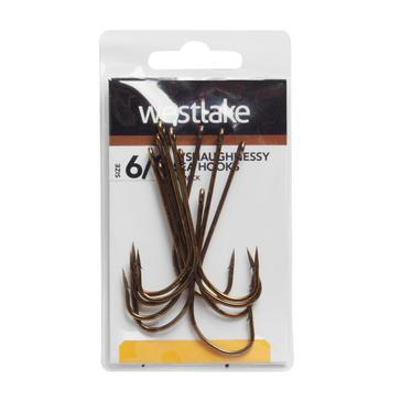 Brown Westlake 10 Pack O'Shaughnessy Fishing Hooks
