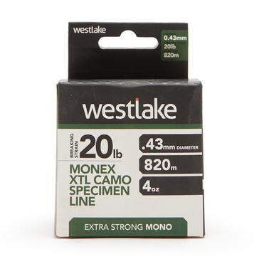 White Westlake Extra Strong Mono Monex XTL Camo Specimen Line (20lb)