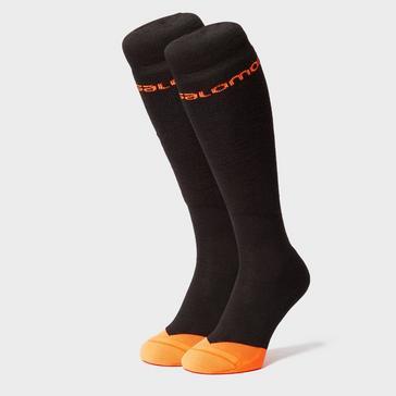 Black SALOMON SOCKS Men's Morillion Ski Socks 2 Pack