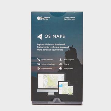 white Ordnance Survey OS Maps 12 Month Subscription