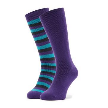 Navy The Edge Women's Parallel Thermal Socks