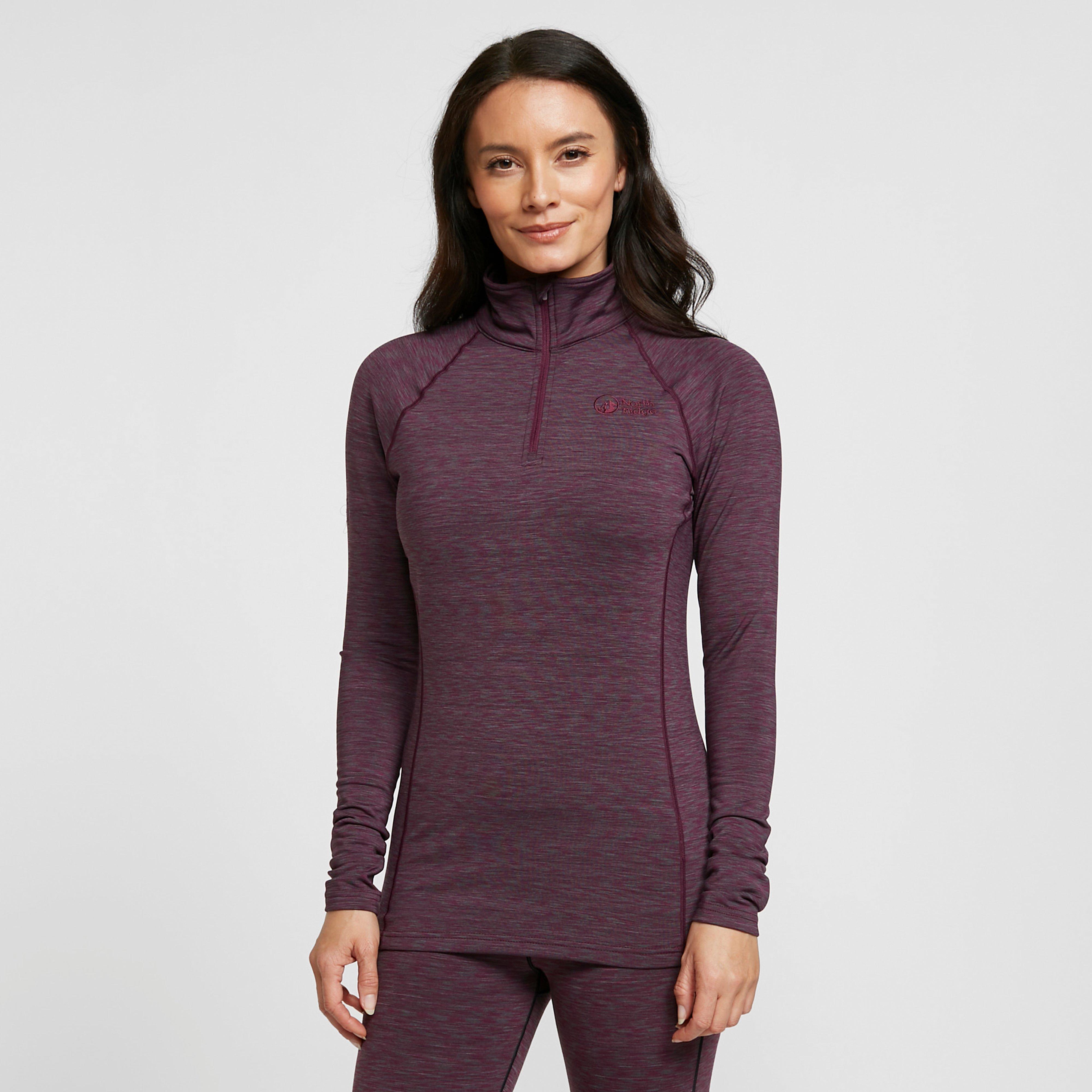 North Ridge Women's Ainslie Half Zip Pullover - Red/Zip, Red