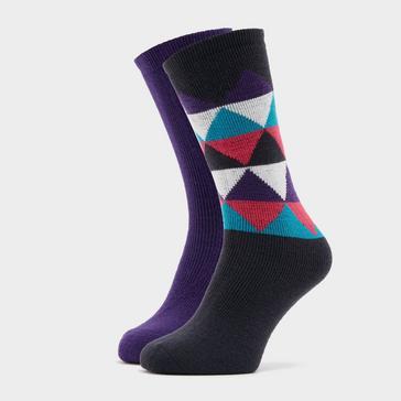 multi The Edge Kids' Oslo Socks (Twin pack)