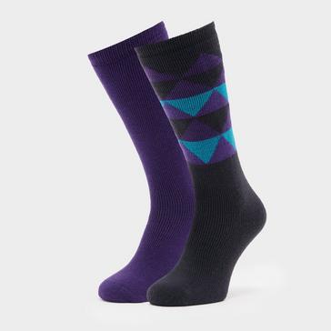 multi The Edge Women's Oslo Socks (Twin Pack)
