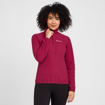 Pink Berghaus Women's Hendra Half Zip Fleece