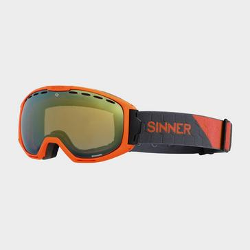 ORANGE Sinner Mohawk Mirrored Ski Goggles