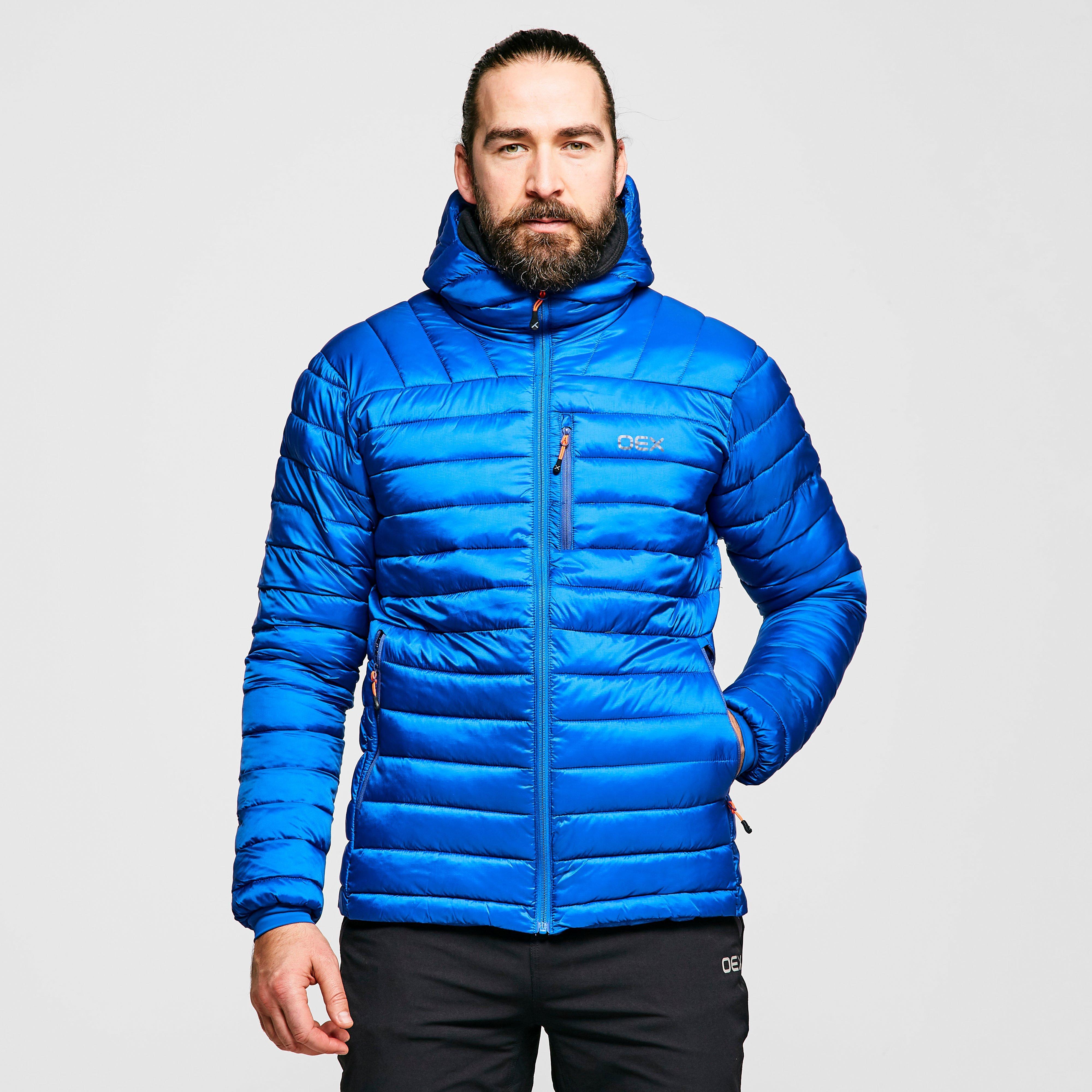 Oex Oex Mens Idris Insulated Jacket - Blue, Blue
