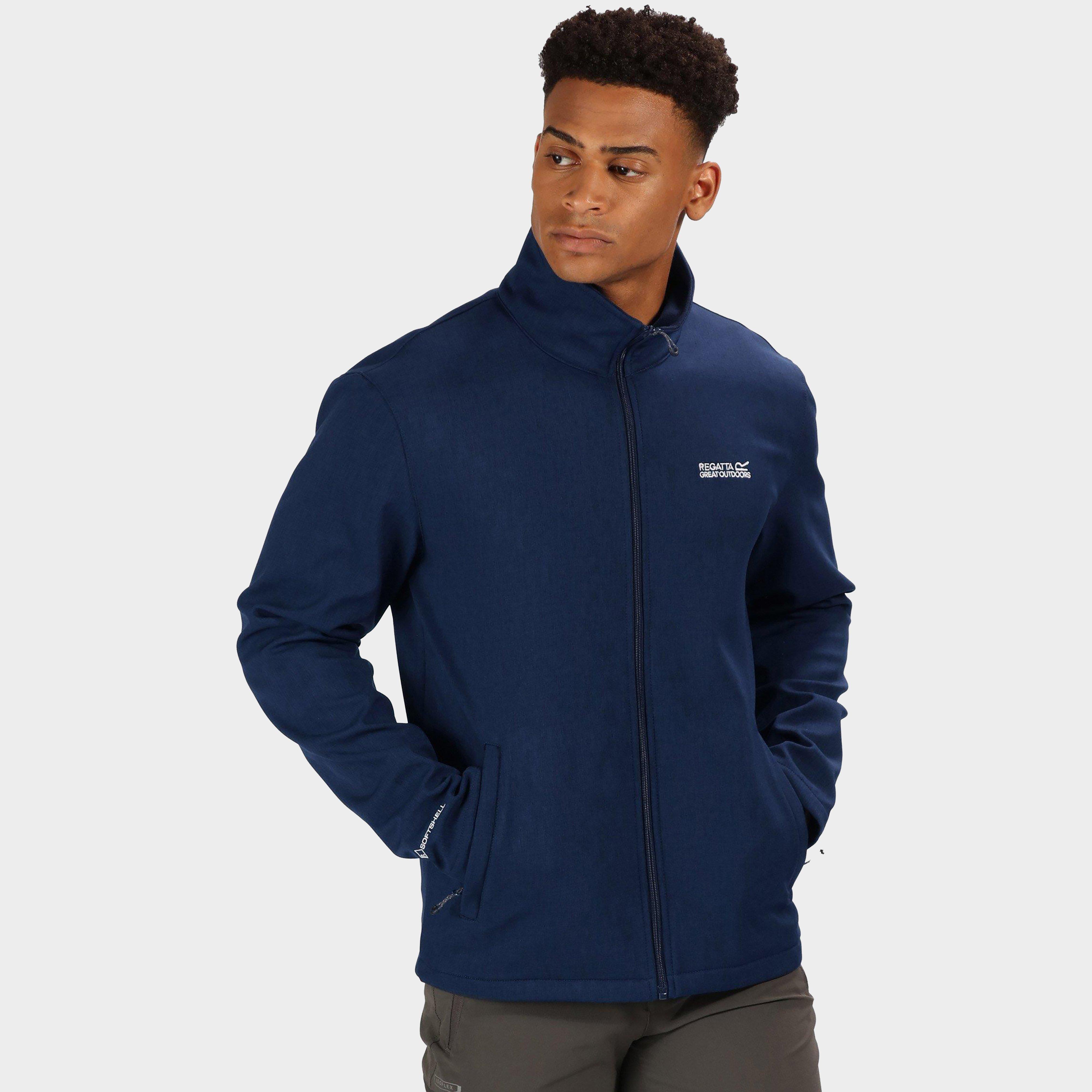 Regatta Men's Carby Softshell Jacket - Blue/Jacket, Blue
