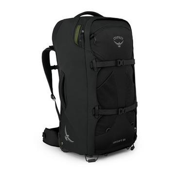 BLACK Osprey Farpoint Wheels 65 Travel Backpack
