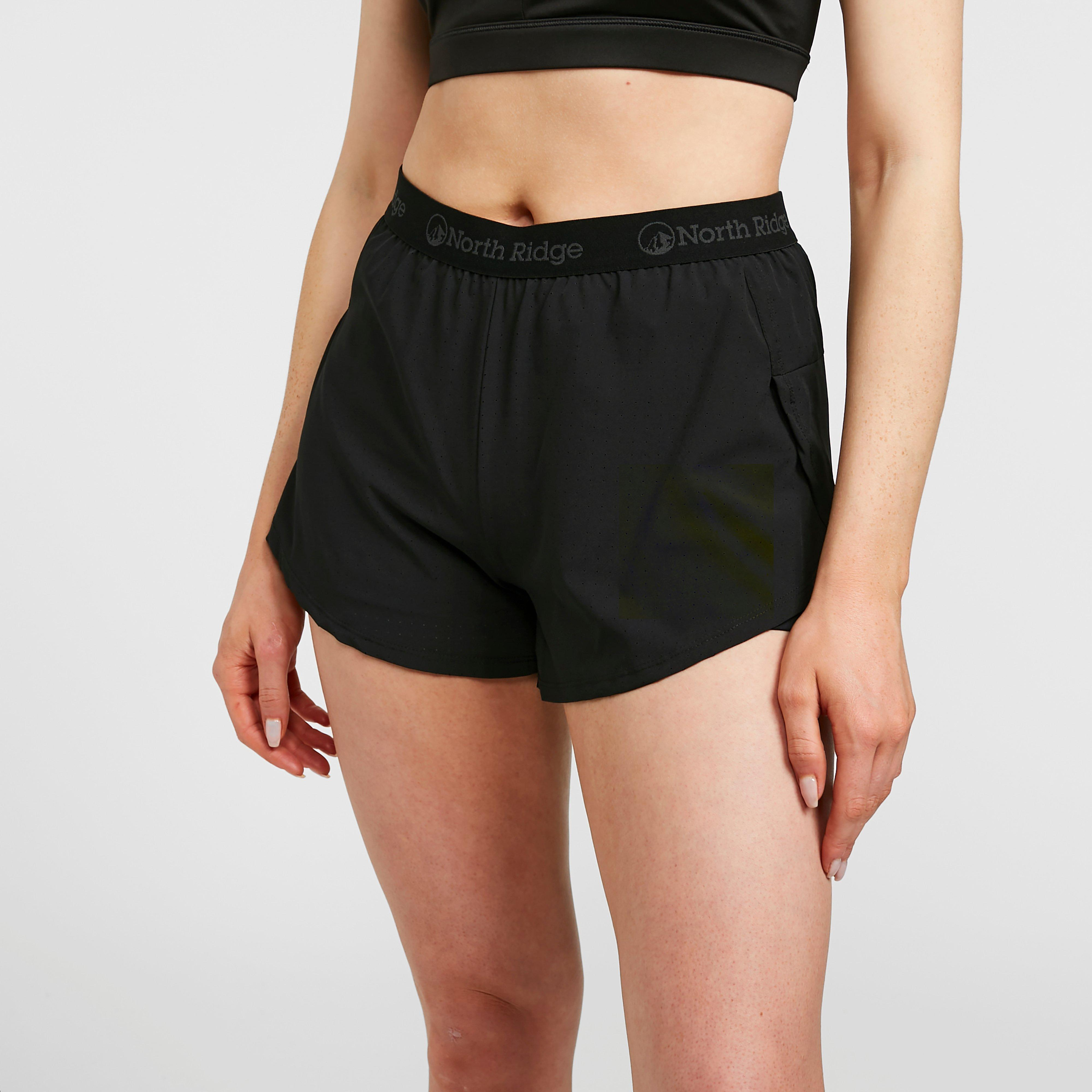 "North Ridge Women's Charge 2 Layer 5"" Shorts - Black, Black"