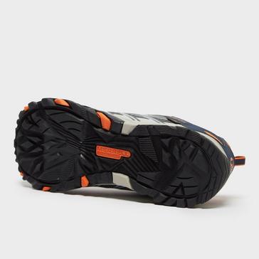Mid Blue Merrell Kids' Moab FST A/C Waterproof Shoe