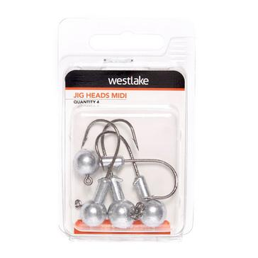 Silver Westlake Jig Heads Assorted Pack 0.8G & 1.5G