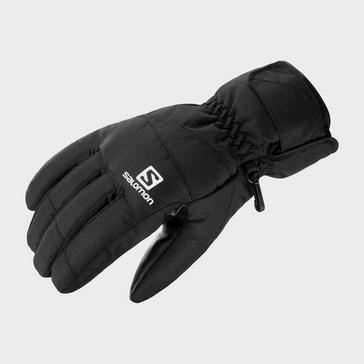 Black Salomon Men's Force Ski Gloves