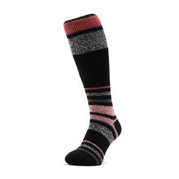 Black Heat Holders Women's Stripe Ski Sock