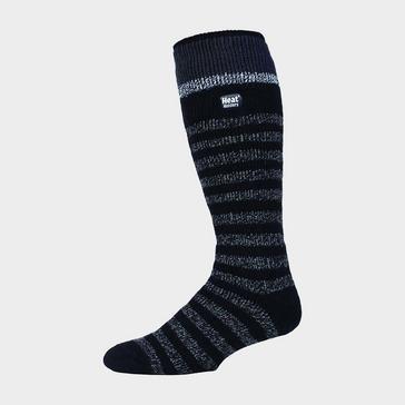 Black Heat Holders Men's Stripe Ski Sock