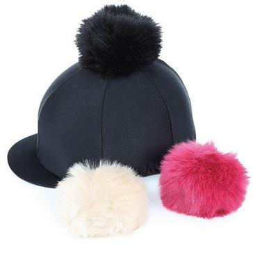 White Shires Switch It Pom Pom Hat Cover
