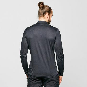Black Montane Men's Dart Zip-Neck T-Shirt