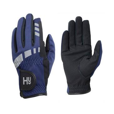Blue Battles Hy5 Extreme Reflective Softshell Riding Gloves