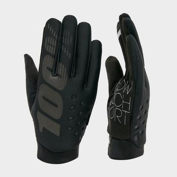 Black 100% Men's Brisker Waterproof Gloves