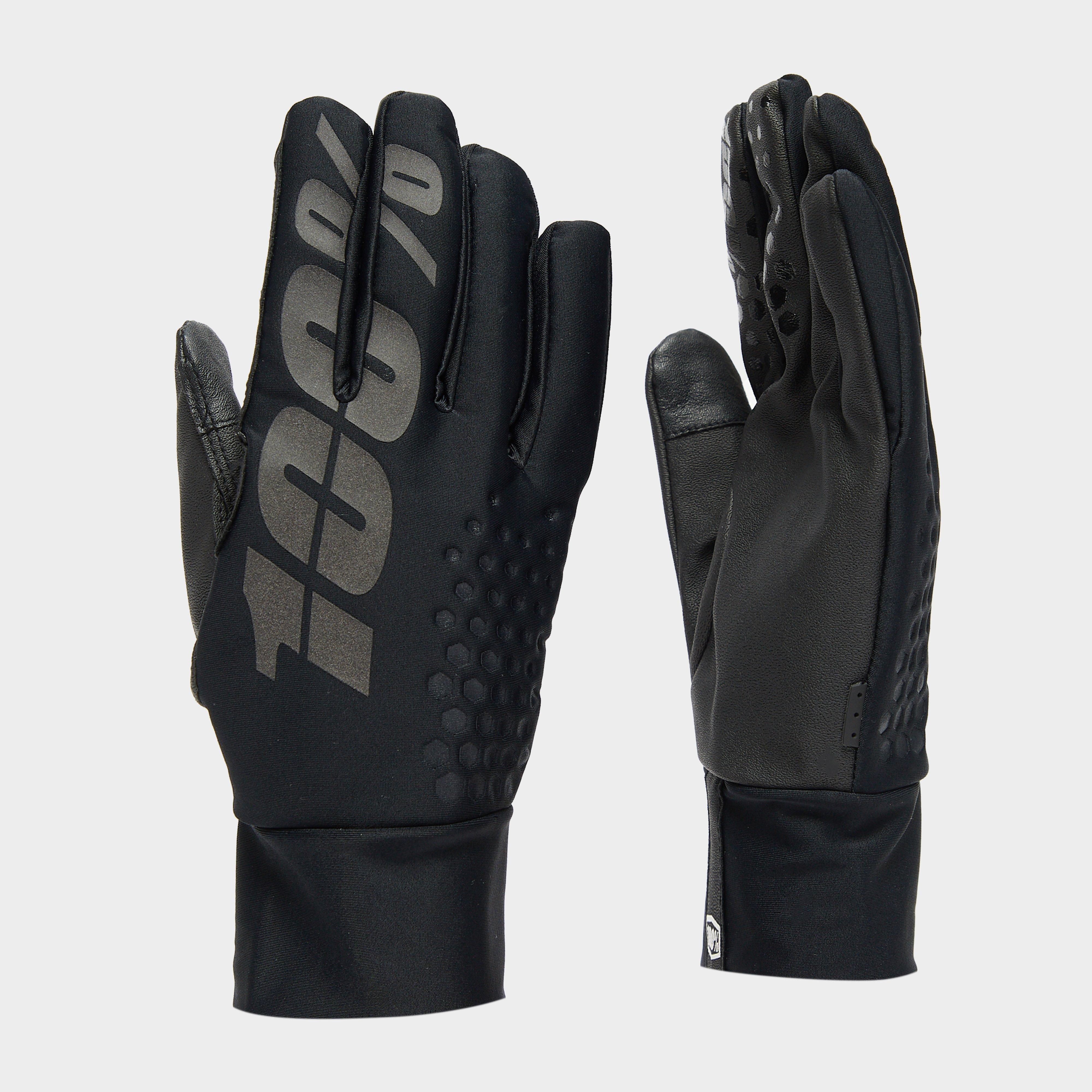 100% Men's Brisker Hydromatic Waterproof Gloves - Black/Blk, Black