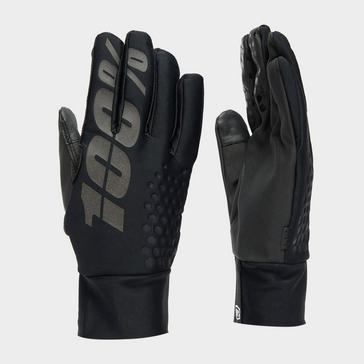 Black 100% Men's Brisker Hydromatic Waterproof Gloves