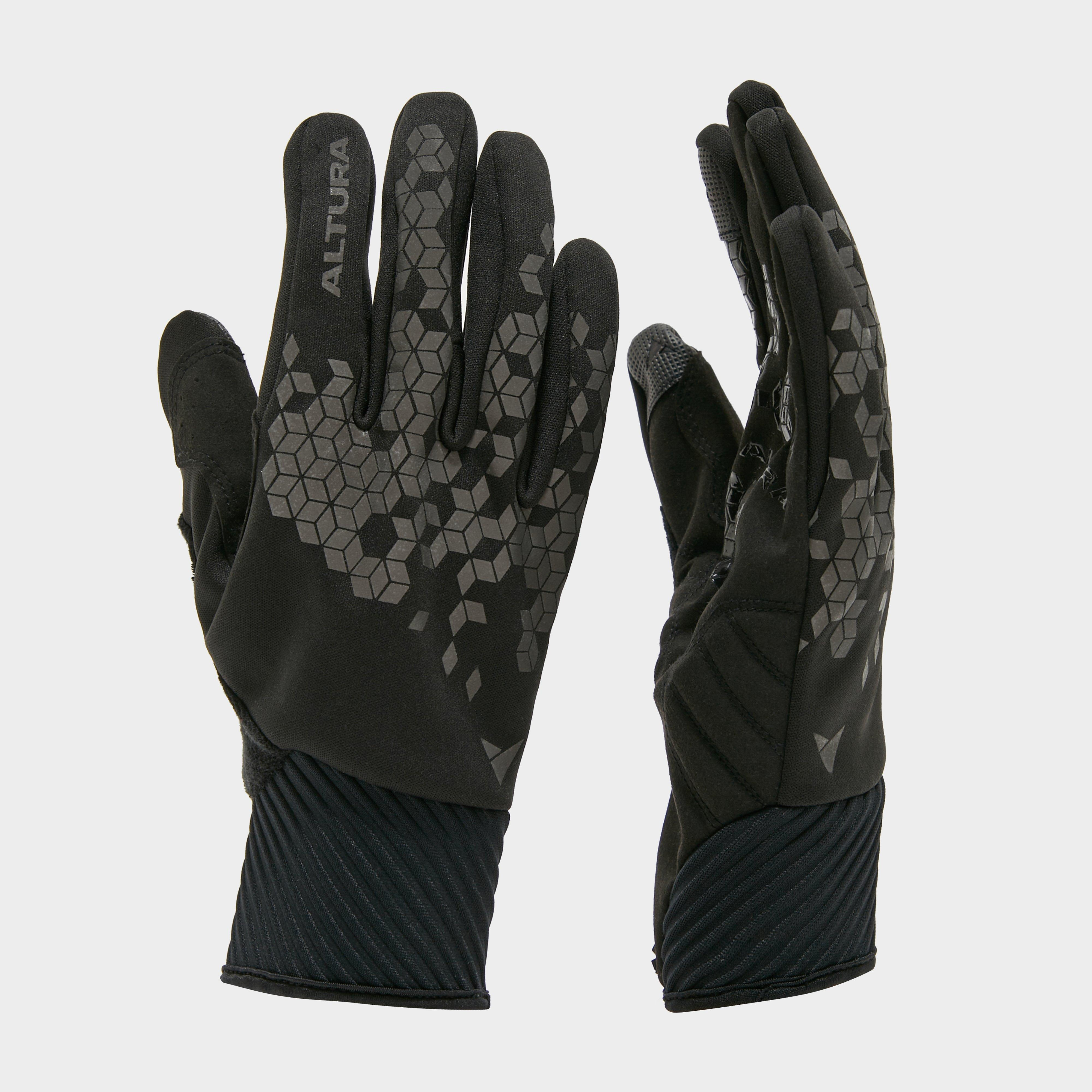 Altura Nightvision Windproof Cycling Glove - Black/Blk, Black