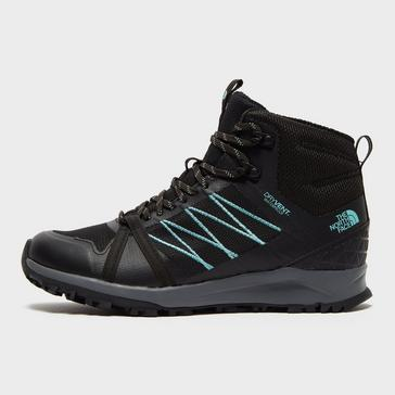 BLACK The North Face Women's Litewave Fastpack II DryVent™ Midrise Hiking Shoes