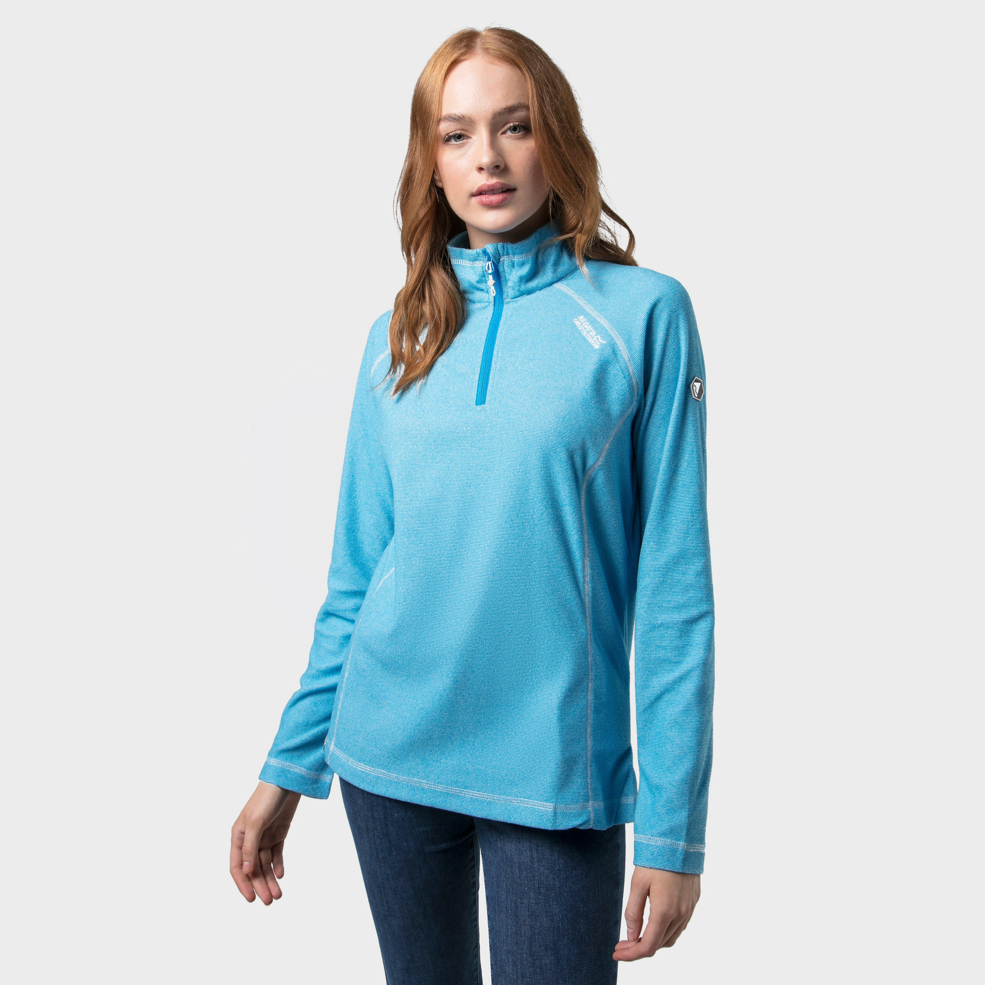 Regatta Regatta Womens Montes Lightweight Half-Zip Fleece, Turquoise