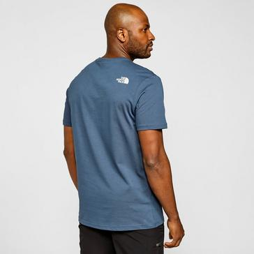 Navy The North Face Men's Mountain Geometry T-Shirt