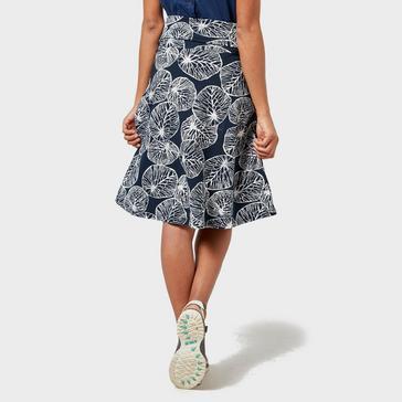 Navy Weird Fish Women's Malmo Printed Skirt
