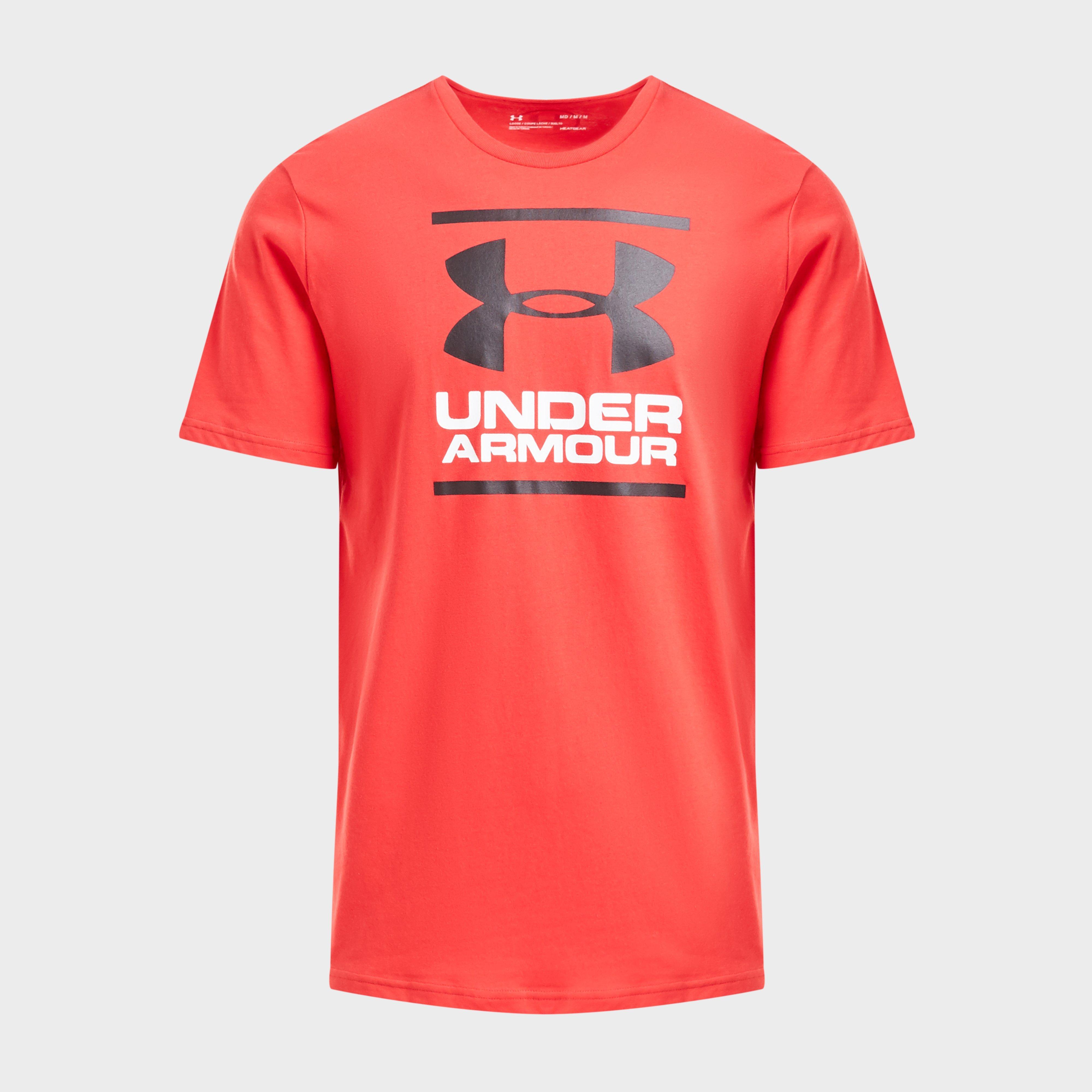Under Armour Under Armour Mens UA GL Foundation Short Sleeve T-Shirt, Red
