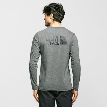 Grey The North Face Men's Long Sleeve Easy T-Shirt