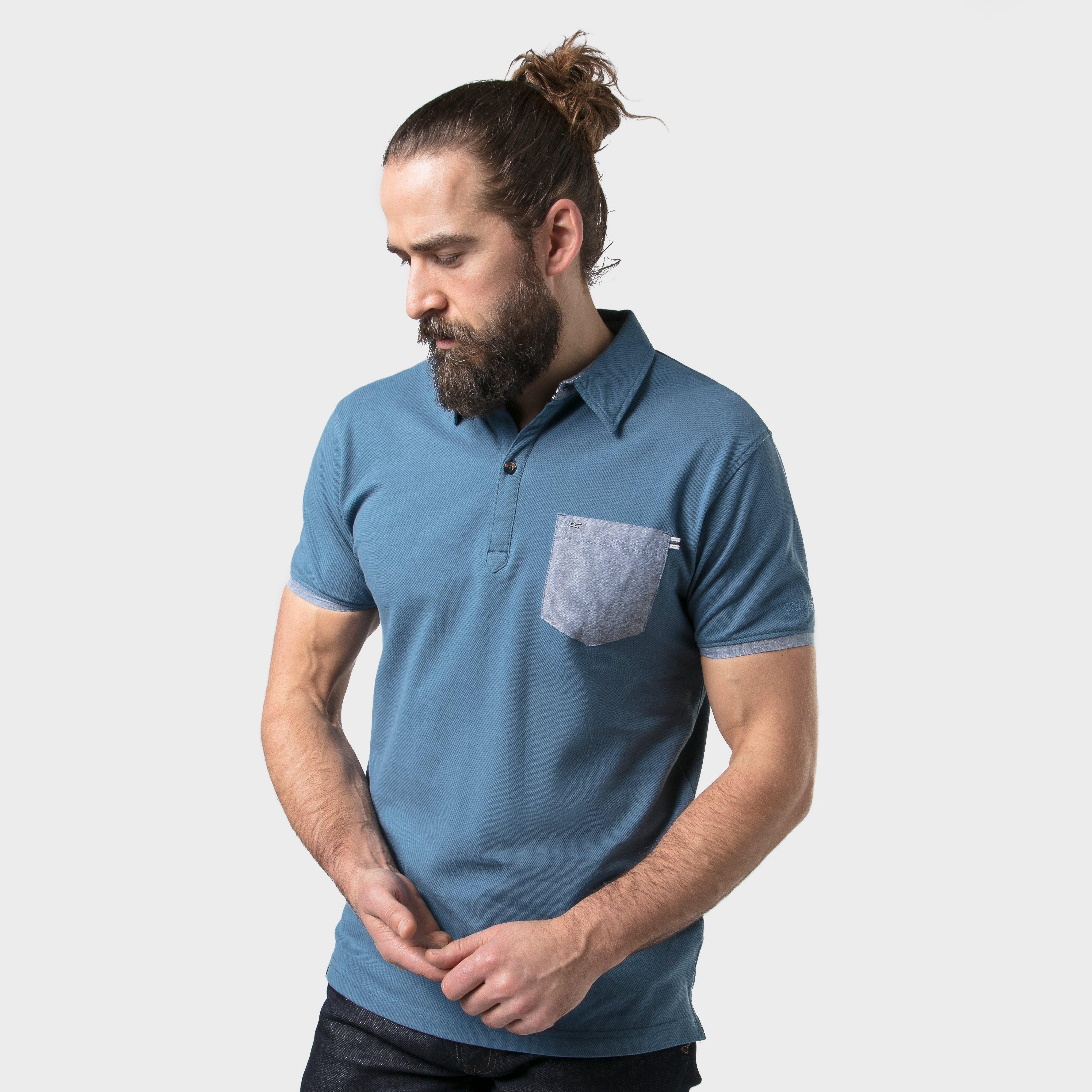 Regatta Regatta Mens Barley Polo Shirt - Blue, Blue