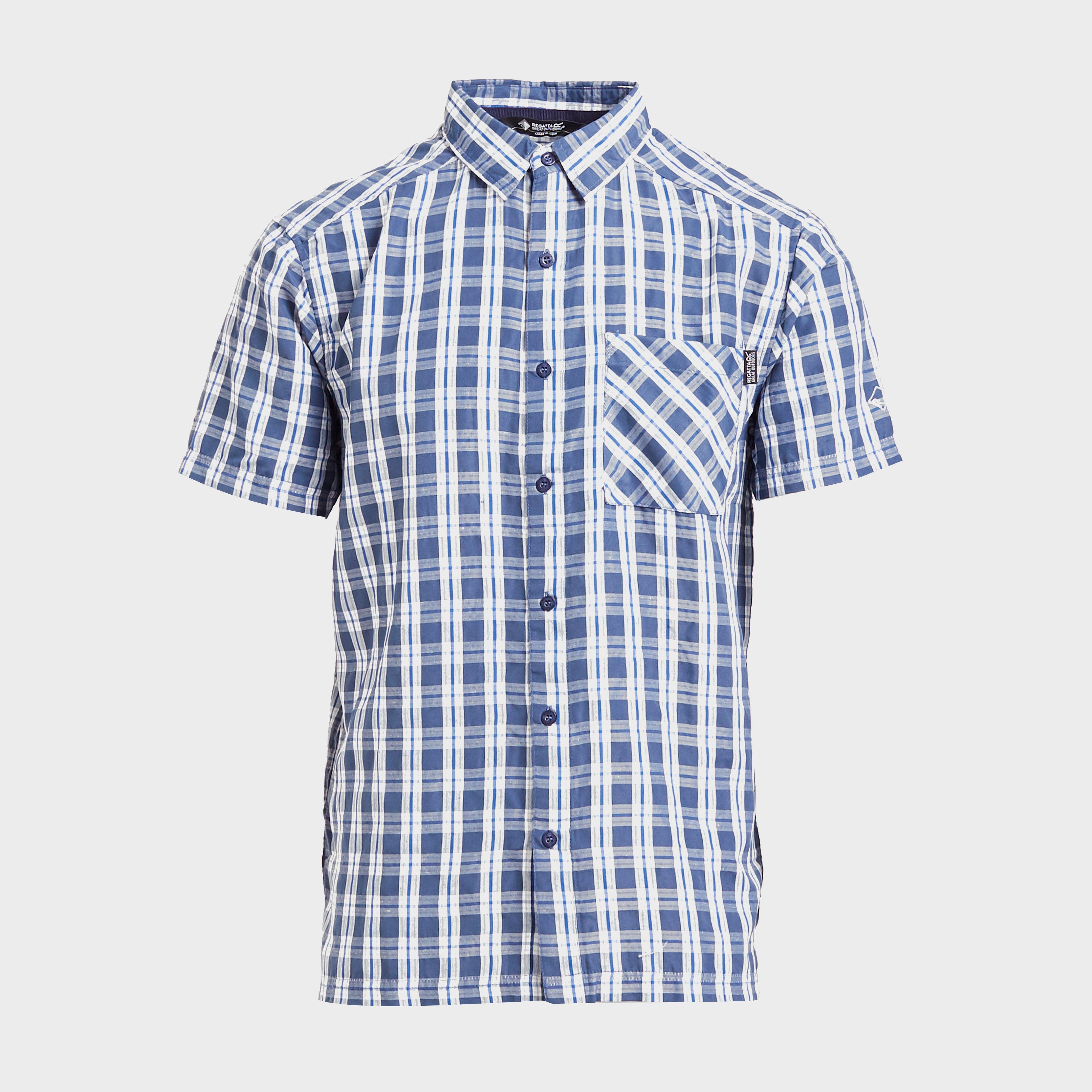 Regatta Regatta Mens Mindano V Short Sleeve Shirt, Blue