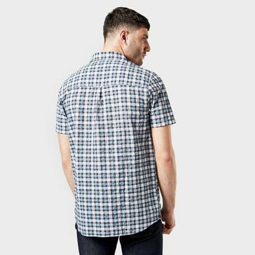 Navy Craghoppers Men's Pele Short Sleeved Check Shirt